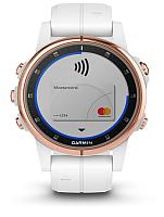 Умные часы Garmin Fenix 5s Plus Sapphire / 010-01987-07 (белый/розовый) -