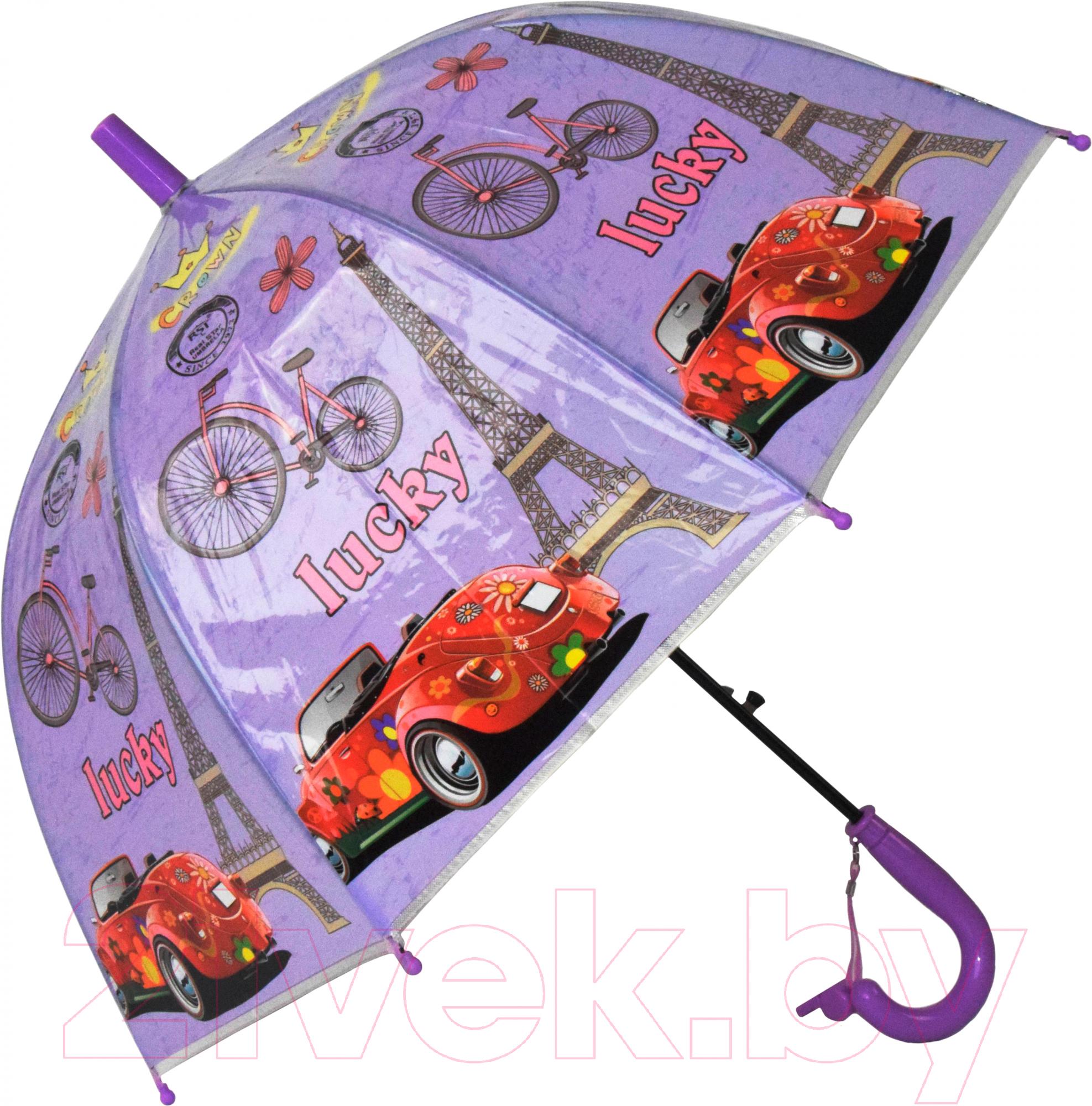 Купить Зонт-трость Ausini, VT18-11077 (фиолетовый), Китай
