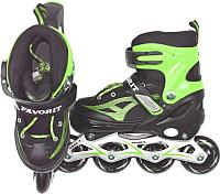 Роликовые коньки FAVORIT MDS-8908-S (S, зеленый) -