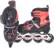Роликовые коньки FAVORIT MDS-8908-S (S, красный) -