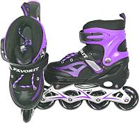 Роликовые коньки FAVORIT MDS-8908-S (S, фиолетовый) -