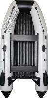 Моторная лодка Vivax Т360Р с жестким полом (с килем, серый/черный) -