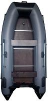 Надувная лодка Vivax Т300 с полом-книгой (без киля, серый/черный) -