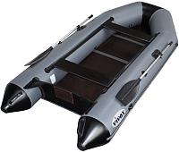 Моторно-гребная лодка Vivax Т330 с полом-книгой (с килем, серый/черный) -