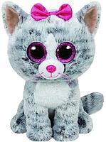 Мягкая игрушка TY Beanie Boo's Кошка Kiki / 37075 (серый) -