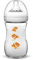 Бутылочка для кормления Philips AVENT Natural Тигрята / SCF627/20 (260мл) -