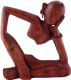 Статуэтка Мир Ротанга Абстракт думающий с серьгой (25см) -