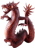 Статуэтка Мир Ротанга Дракон без крыльев (25см) -
