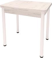 Обеденный стол Millwood Алтай-03 120x80 (дуб белый Craft/металл белый) -