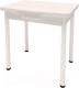 Обеденный стол Millwood Алтай-03 комфорт 80x120 (сосна белая Loft/металл белый) -