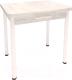 Обеденный стол Millwood Алтай-04 Комфорт (дуб белый Craft/металл белый) -