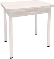 Обеденный стол Millwood Алтай-04 Комфорт (сосна белая Loft/металл белый) -