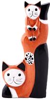 Статуэтка Мир Ротанга Кошка с котенком -