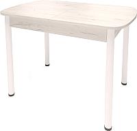 Обеденный стол Millwood Аргент-02.01 (сосна белая Loft/металл белый) -
