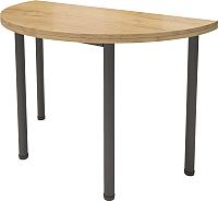 Обеденный стол Millwood Далис 2 (дуб золотой Craft/металл черный) -