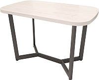 Обеденный стол Millwood Loft M Light 120x70 (дуб белый Craft/металл черный) -