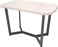 Обеденный стол Millwood Loft M Light 130x80 (дуб белый Craft/металл черный) -