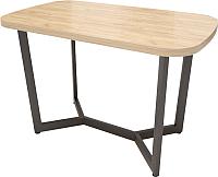 Обеденный стол Millwood Loft M Light 130x80 (дуб золотой Craft/металл черный) -