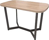 Обеденный стол Millwood Loft M Light 130x80 (дуб табачный Craft/металл черный) -