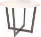 Обеденный стол Millwood Loft O Light D110x75 (дуб белый Craft/металл черный) -