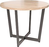 Обеденный стол Millwood Loft O Light D110x75 (дуб табачный Craft/металл черный) -