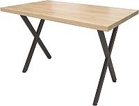 Обеденный стол Millwood Loft X Light 130x80 (дуб золотой Craft/металл черный) -