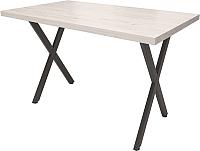 Обеденный стол Millwood Loft X Light 160x80 (дуб белый Craft/металл черный) -