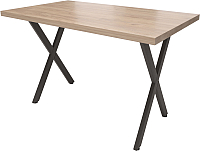 Обеденный стол Millwood Loft X Light 160x80 (дуб табачный Craft/металл черный) -