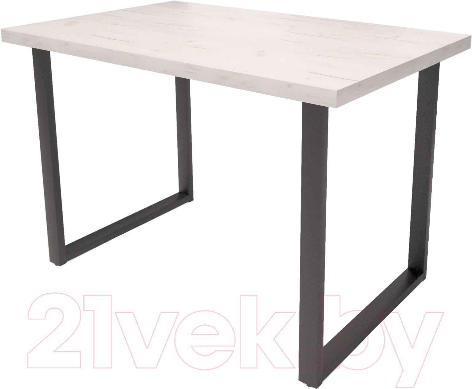 Купить Обеденный стол Millwood, Loft H Light 120x70 (дуб белый Craft/металл черный), Беларусь