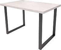 Обеденный стол Millwood Loft H Light 120x70 (дуб белый Craft/металл черный) -