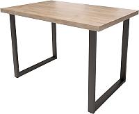 Обеденный стол Millwood Loft H Light 160x80 (дуб табачный Craft/металл черный) -