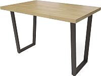 Обеденный стол Millwood Loft U 120x70 (дуб золотой Craft/металл черный) -