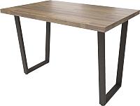 Обеденный стол Millwood Loft U 130x80 (дуб табачный Craft/металл черный) -