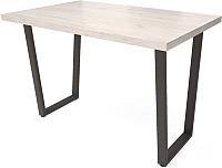 Обеденный стол Millwood Loft U Light (дуб белый Craft/металл черный) -