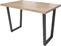 Обеденный стол Millwood Loft U Light (дуб табачный Craft/металл черный) -