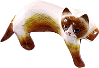 Статуэтка Мир Ротанга Спящий кот -