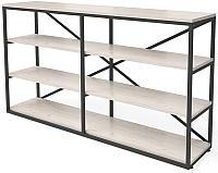 Стеллаж Millwood Neo Loft OR-1/L (дуб белый Craft/металл черный) -