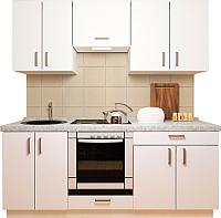 Готовая кухня Хоум Лайн Кристалл плюс 2.0 (белый глянец) -