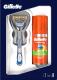 Набор косметики для бритья Gillette Fusion бритва+1 сменная кассета+Fusion Hydra Gel гель д/бритья (75мл) -
