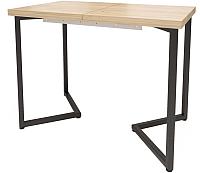Обеденный стол Millwood Loft London 140x60 (дуб золотой Craft/металл черный) -