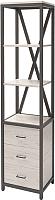 Стеллаж Millwood Neo Loft RC-1/L (дуб белый Craft/металл черный) -