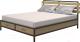 Двуспальная кровать Millwood Neo Loft KM-1 (дуб натуральный/металл черный) -