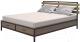 Двуспальная кровать Millwood Neo Loft KM-1 (дуб темный/металл черный) -
