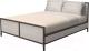 Двуспальная кровать Millwood Neo Loft KM-2/L (дуб белый Craft/металл черный) -