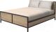 Двуспальная кровать Millwood Neo Loft KM-2/L (дуб золотой Craft/металл черный) -