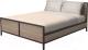 Двуспальная кровать Millwood Neo Loft KM-2/L (дуб табачный Craft/металл черный) -