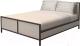 Двуспальная кровать Millwood Neo Loft KM-2 (дуб беленый/металл черный) -
