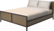 Двуспальная кровать Millwood Neo Loft KM-4 (дуб темный/металл черный) -