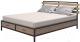 Двуспальная кровать Millwood Neo Loft KM-1/L (дуб табачный Craft/металл черный) -