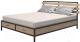 Двуспальная кровать Millwood Neo Loft KM-1/L (дуб золотой Craft/металл черный) -